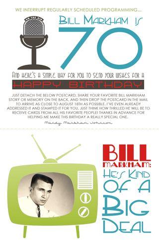 Bill birthday front